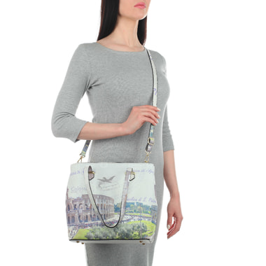 Кожаная женская сумка с длинными ручками Acquanegra