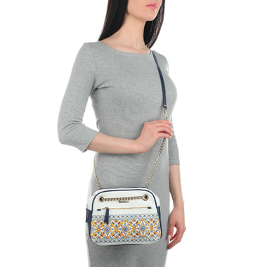 Женская кожаная сумочка с узором Marina Creazioni